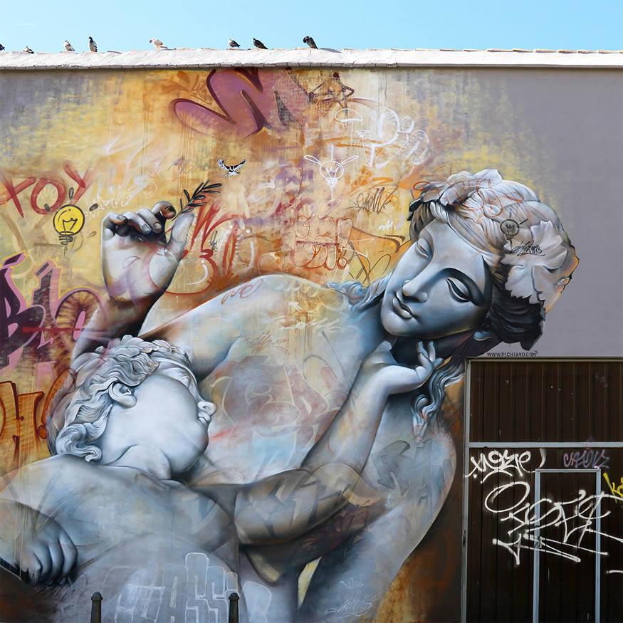 Graffiti Pichi y Avo