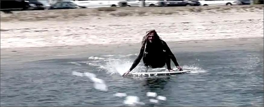 Entrando al agua
