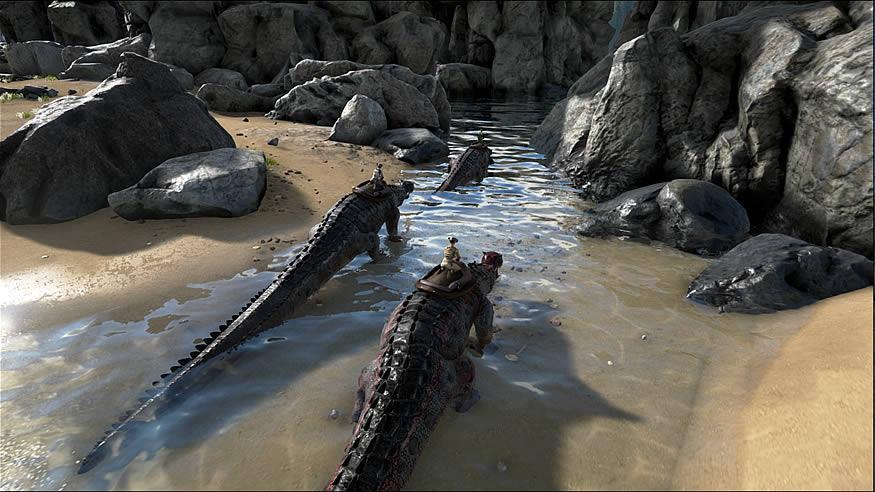 Sobrevivir entre dinosaurios