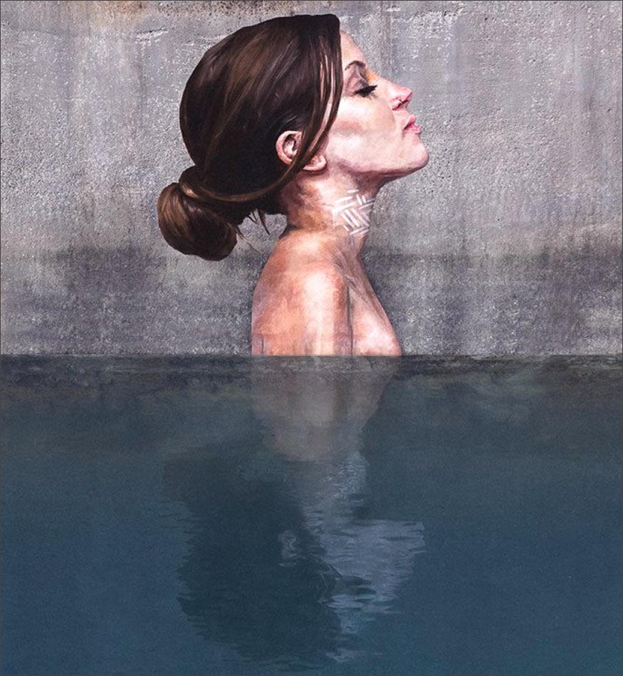 graffitis sobre el agua