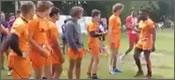 Los saludos del equipo holandés de rugby