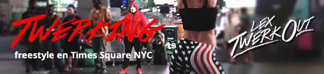 Twerking freestyle en Times Square NYC