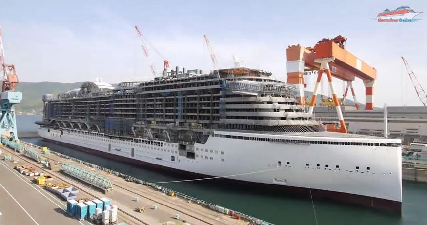 barco de crucero en time-lapse