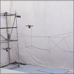 Drones construyen un puente de cuerda