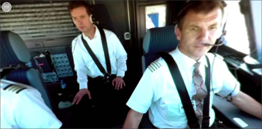 Despegue y aterrizaje de un Airbus