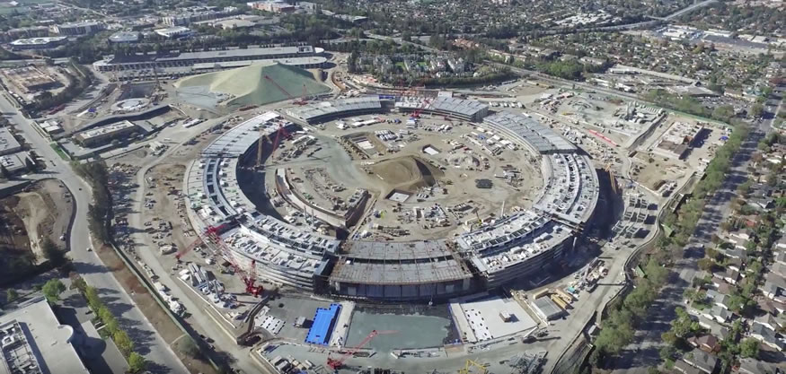 Las obras del gigantesco campus 2 de Apple