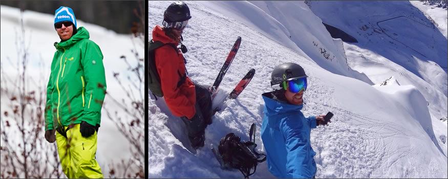 Esquiador sobrevive