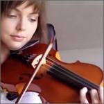 Aprendiendo a tocar el violín