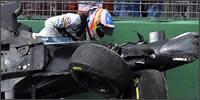 Fernando Alonso tras el accidente